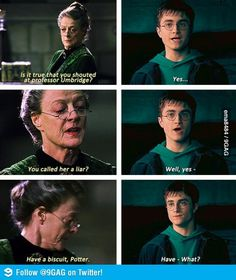 Professor McGonagall being awesome
