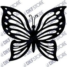 Butterfly Template - Free DXF File artwork features a beautiful butterfly.Butterfly Template is a sample from the Butterfly Decorative Bundle. Butterfly Stencil, Wood Butterfly, Butterfly Drawing, Butterfly Template, Butterfly Crafts, Flower Template, Butterfly Design, Butterfly Mobile, Printable Butterfly