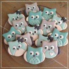 Owl babyshower cookies                                                                                                                                                                                 More