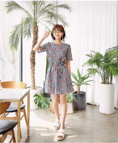 Striped pattern dress