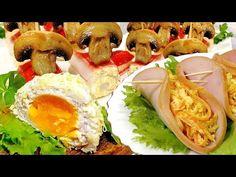 ТРИ праздничные ЗАКУСКИ - YouTube Sushi, Cooking, Ethnic Recipes, Food, Entertainment, Youtube, Kitchen, Essen, Meals