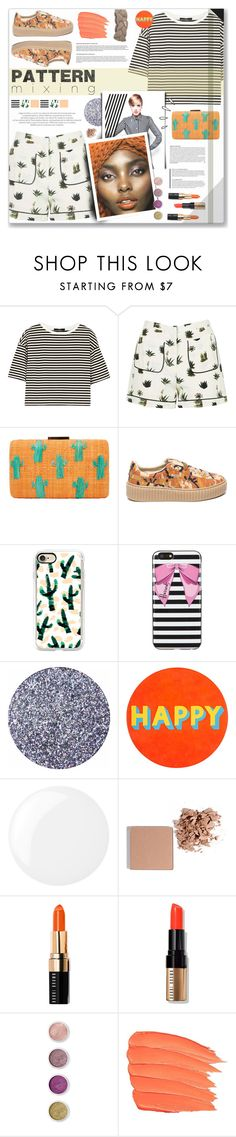 """Pattern Mixing"" by cowseatchard ❤ liked on Polyvore featuring TIBI, Topshop, Kayu, Puma, Casetify, Harrods, Lisa Perry, Essie, Old Navy and Trish McEvoy"