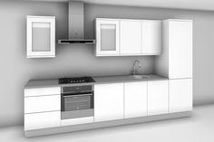 Straight run design the small round kitchen Kitchen Units, Straight Kitchen, House Design Kitchen, Kitchen Room Design, Kitchen Layout, Large Open Plan Kitchens, Diy Kitchen, Galley Kitchen Design, Kitchen Design