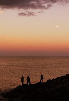 New free stock photo of fishing sea dawn