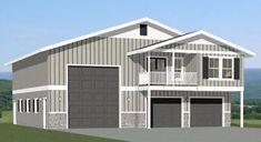 Garage Plans With Loft, Loft Plan, Garage House Plans, Barn House Plans, Shed Plans, Metal Building Homes, Building Plans, Building A House, Building Ideas