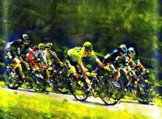 acrylic on canvas board sold such a beautiful stage today. and a wonderful winner Jarli. Bicycle Painting, Bicycle Art, Alaska Winter, Sports Painting, Cycling Art, Cool Cars, Illustration Art, Tours, Art Prints
