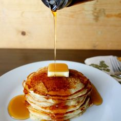 These delicious buttermilk pancakes won't last long so get em' while they're hot!