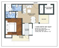 1 BHK APARTMENT FLOOR PLAN http://www.nethomes.in