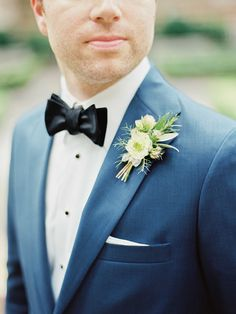 Elegant Indoor Wedding in Birmingham #boutonniere #groom