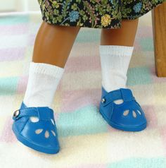 Bright Blue Leather Shoes Sandals to Fit Sasha Doll | eBay from Neeron ebay $29