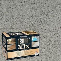 Resurfacing Concrete Porch Makeover Fills In