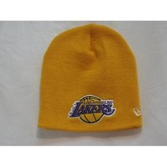 27d3c56bb29 LOS ANGELES LAKERS NEW ERA GOLD BEANIE SKULL CAP HAT NBA CAPS by New Era.   10.99