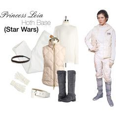 Based on Princess Leia from Star Wars (Hoth Base) by kamidu on Polyvore featuring Joseph A, American Eagle Outfitters, Steven, Napapijri, Liz Claiborne, starwars, cosplay, princessleia, Hoth and hothbase