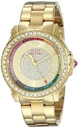 Juicy Couture Women's 1901228 Pedigree Analog Display Quartz Gold Watch