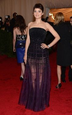 Stepping out for an enchanted evening, Marion Cotillard showed up at the 2012 Met Gala at the Metropolitan Museum of Art in New York City earlier tonight (May 7).