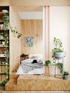 Ivy Muse · Sanctuary - The Design Files Small Room Bedroom, Small Rooms, Small Apartments, Small Spaces, Bedroom Decor, Bedroom Ideas, Couple Bedroom, Design Bedroom, Bedroom Bed