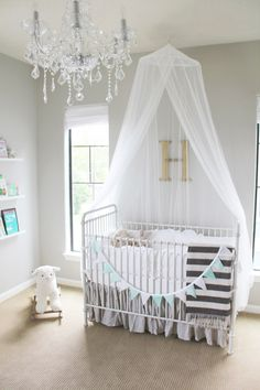 Fawn Over Baby: A Minted Glam Nursery Design From Veronika's Blushing... I LOVE the mint, grey, white and hint of black combo!!!!
