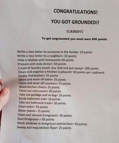 Brilliant mother has her children work their way out of being grounded. I will be doing this