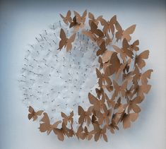 Butterfly Sculptures: Rebecca J Coles is a paper artist based in the United Kingdom who creates three-dimensional sculptures from a hand drawn and cut assemblage of colorful butterflies from recycled paper. Butterfly Wall Art, Paper Butterflies, Paper Flowers, Art Origami, 3d Art, Butterfly Decorations, Paper Artist, Recycled Art, Art Plastique