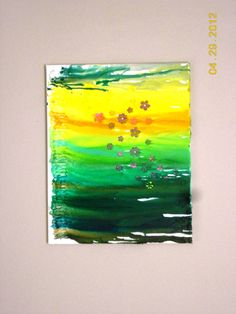 Melted crayon canvas art.  :)