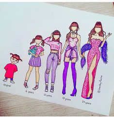 Top Paintings of the Week 16 - paint- Inspirations - Graphicroozane App Drawings, Cool Drawings, Pencil Drawings, Cute Disney Drawings, Kawaii Drawings, Disney Kunst, Disney Art, Dress Drawing, Drawing Clothes