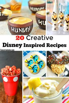 A fun Round up of Disney Inspired Recipes ready to bring the Disney Magic home. Easy and delicious these treats will a huge hit wherever you take them. Disney Dishes, Disney Desserts, Disney Snacks, Fun Desserts, Disney Food Recipes, Disney Themed Food, Disney Inspired Food, Hand Pies, Copykat Recipes
