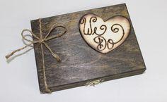 Wedding Ring Box Alternative - Rustic Ring Box Lined with Burlap - Bride - Groom - Rings - Small Ring Holder - Bridesmaid