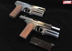 ARMY , Airsoft Shop , Tactical , Combat Gear - Show Guns Custom-Made KPS with Shotshell Launcher ( Kingsman Pistol Shotgun ) ( Limited Edition ) - JK Airsoft retail and Whsle. with Worldwide Shipping Film Kingsman, Watch Kingsman, Self Defense Weapons, Custom Guns, Cool Guns, Movie Props, Airsoft Guns, Guns And Ammo, Firearms