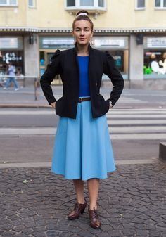 "Meeri - Hel Looks - Street Style from Helsinki ""I like materials that feel good on skin and are of good quality. I prefer practical clothes in which I can ride my bike. My favourite colours are red and blue."" Street Style"