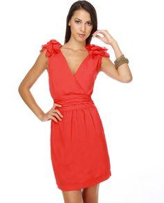 7b411cdb3aca bridesmaids dress opt. 8 Coral Colored Dresses, Coral Dress, Orange Dress,  Temple