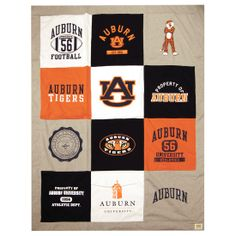 Wrap yourself in Auburn warmth with our exclusive T-shirt blanket! The soft blanket makes a great gift for the Auburn fan who has everything.Measures 80