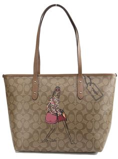 Coach 57617 Bonnie Cashin Khaki Signature City Zip Top Multicolor Tote Bag. Get one of the hottest styles of the season! The Coach 57617 Bonnie Cashin Khaki Signature City Zip Top Multicolor Tote Bag is a top 10 member favorite on Tradesy. Save on yours before they're sold out!