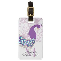 ==>>Big Save on          Elegant Modern Damask Purple Peacock Personalized Bag Tags           Elegant Modern Damask Purple Peacock Personalized Bag Tags lowest price for you. In addition you can compare price with another store and read helpful reviews. BuyDiscount Deals          Elegant Mo...Cleck Hot Deals >>> http://www.zazzle.com/elegant_modern_damask_purple_peacock_personalized_luggage_tag-256879104285327019?rf=238627982471231924&zbar=1&tc=terrest