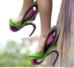 OK if they made a heel like this that was soft,  organic and fairy-like, I might even go there ;)  Graffiti | Giulia Tanini