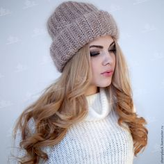 Купить Шапка Такори - бежевый, однотонный, такори, такори шапка, шапка такори, мохеровая шапка