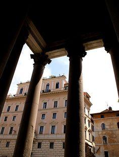 Rom, Piazza della Rotonda und Proanos des Pantheons