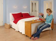 Rolltisch bett  Praktischen Tisch für´s Bett bauen: Anleitung zum Selbermachen ...
