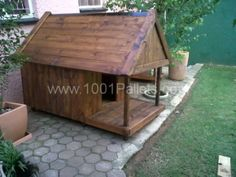IMG00018 20110127 1800 600x450 Pallet Dog Kennel in pallet garden pallet outdoor project diy pallet ideas  with Pallets Garden Doghouse