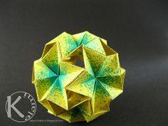 origami globe by Christine Blasek (Kalami)