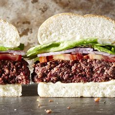 This umami-rich burger is unabashedly attemtping to imitate a beef burger in flavor, texture, and appearance. Mushrooms and grains form...
