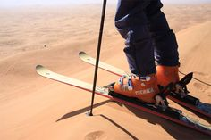 sand skiing in Namibia