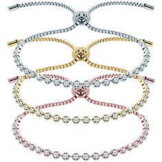 Diamond Style London Tri-Tone Indo Bracelet Set With Swarovski®... ($100) ❤ liked on Polyvore featuring jewelry, bracelets, diamond bangles, swarovski crystal bangle, 14k bangle, beaded bangles and diamond jewelry