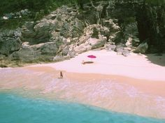 Pink Sand Beach: Harbour Island, Bahamas is the home to some rare pink sand beaches. The pink color comes from microscopic shelled animal called Foraminifera. The beach stretches about 3.5miles and famous for it's pink sand.