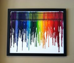 i love this little craft idea my and my step sister Ava are going to do it... what you do is get a piece or white cardboard or any color (i prefer white) and you glue any color crayon on it and get a blow dryer and blow dry all of the crayons until they melt:)
