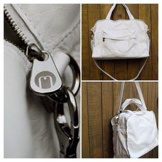 Bolsa em couro branco