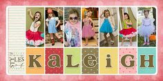 The Many Styles of Kaleigh books, baby girl names, scrapbook layouts, letter, babykidsfamili layout, layout design, baby pictures, scrapbook pages, chickieshannon 2peasinabucket