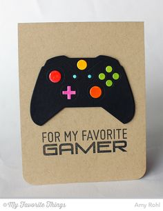 Game On! MFT Level Up; Game Controller Die-namics. -Amy Rohl #mftstamps #xbox