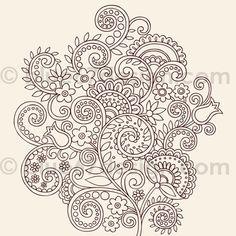 схема для точечной росписи \ цветы