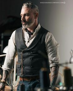 Sharp dressed tatted man