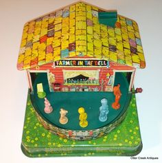 "1950's Mattel ""Farmer In The Dell"" Tin Wind Up Toy by OtterCreekAntiques, $34.95"